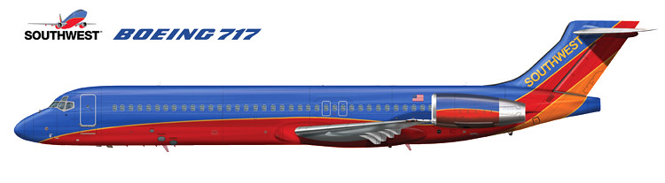 "Resultado de imagen para Southwest Airlines Boeing 717"""