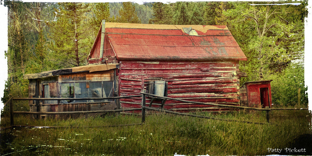 Barker Ghost Town Situated On Galena Creek In The Little B