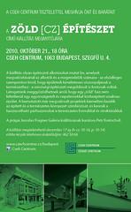 2010. október 19. 23:45 - Zöld [CZ] építészet