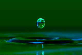 Single egg shaped water droplet | by Luke Peterson Photography