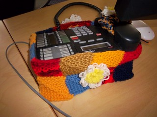 Knitted phone cozy