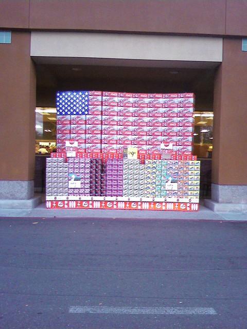 Ralph's Supermarket Coca - Cola Flag Display - June  2009.