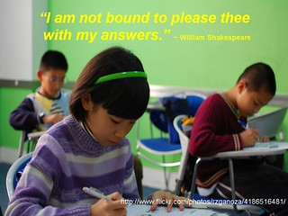 """""""I am not bound to please thee with my answers."""" - William Shakespeare"""