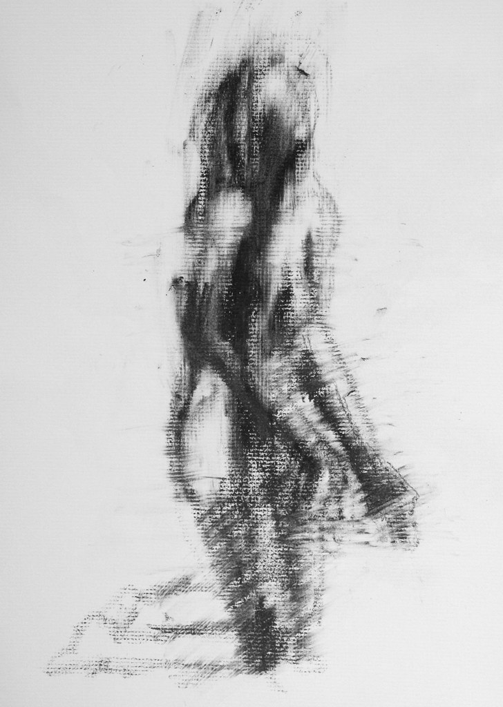 Gesture Drawing | 5 minute gesture drawing, lithographic rub… | Flickr