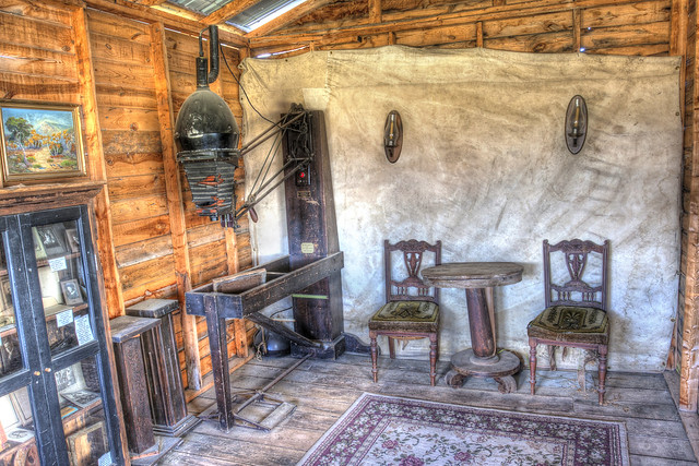 Old Time Photography Studio in Four Mile Old West Town