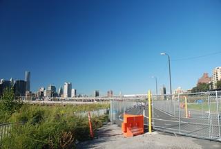 Behind a Locked Gate at Pier 5