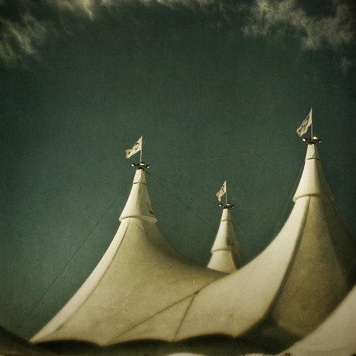 morning sky white clouds square colorado glow denver flags tent textured bigtop cavalia texturesquared