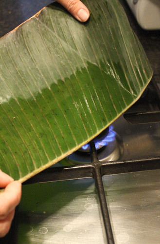 Preparing suman: banana leaf preparation | by eselcee