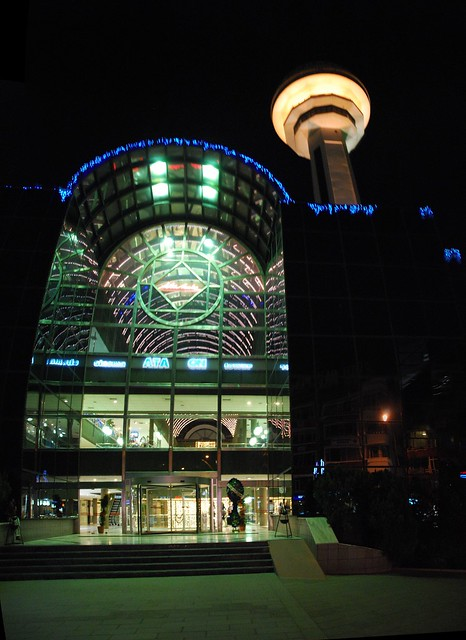 Atakule Tower by night, stitch