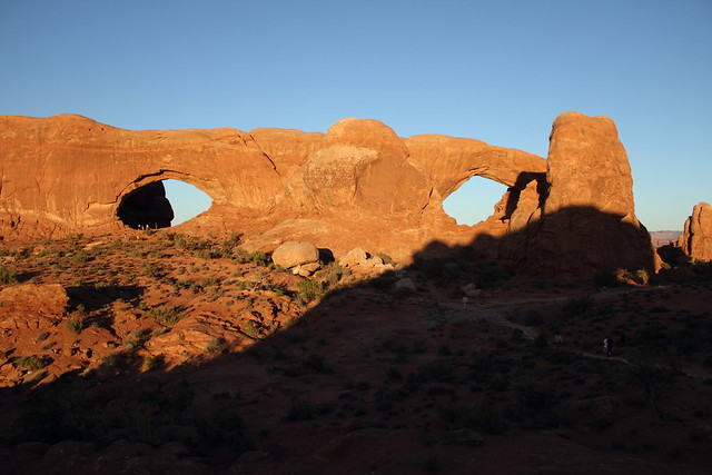 North and South Window at Sunset - Arches National Park, Utah