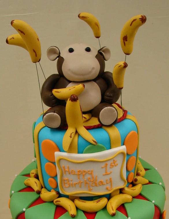 Remarkable Monkey Themed Birthday Cake Monkey Themed Birthday Cake T Flickr Personalised Birthday Cards Xaembasilily Jamesorg