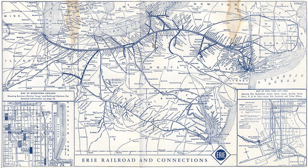 Erie Railroad System Map | You'll need to view this at
