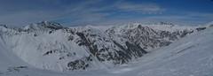 Pohled na údolí Val Maisas z výšky.