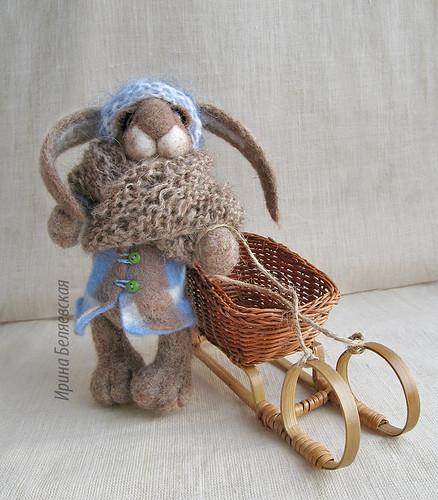 Rabbit with a sledge | by kiryanka
