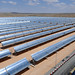 Rows of solar panel at a thermo-solar power plant