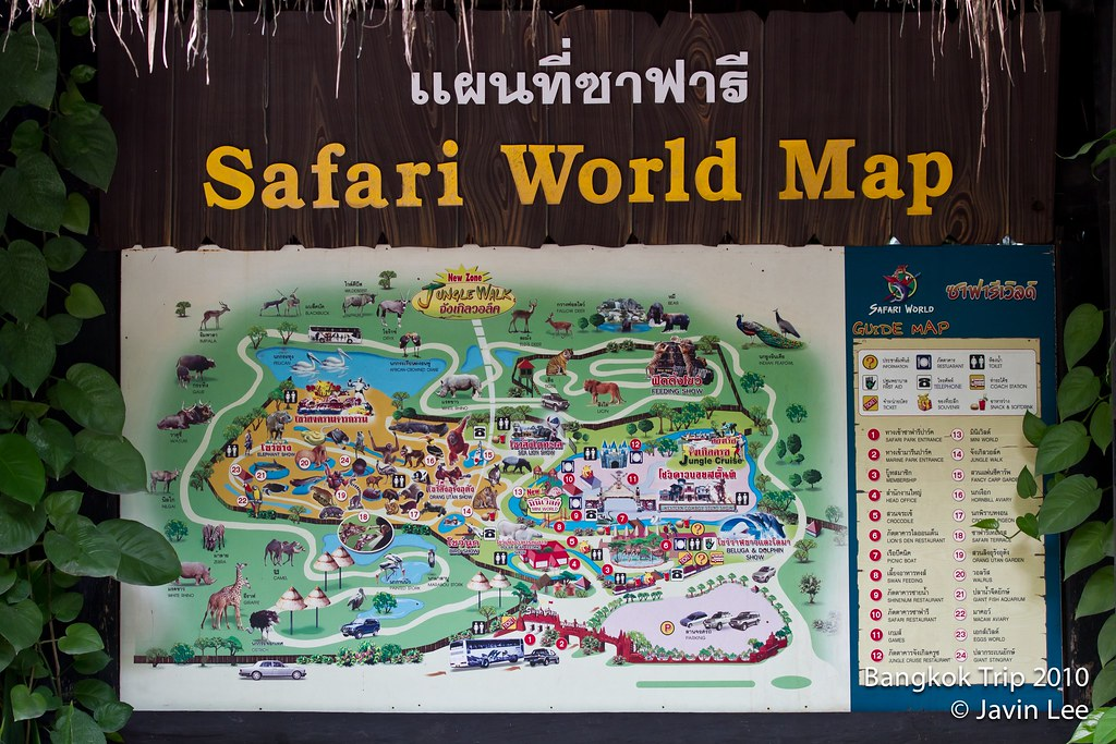 Bangkok 213 Safari World Map | Javin Lee | Flickr on malaysia map, thailand map, disneyland map, bangkok map, lumpini park map, amusement park map, erawan shrine map, drayton manor theme park map, cambodia map, zoo map, singapore map,