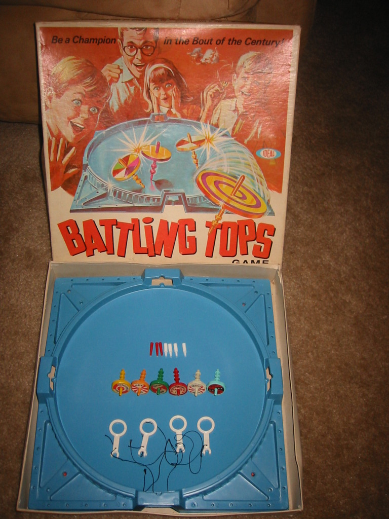 1969 Battling Tops Board Game Ideal Toys Used To Have This Flickr