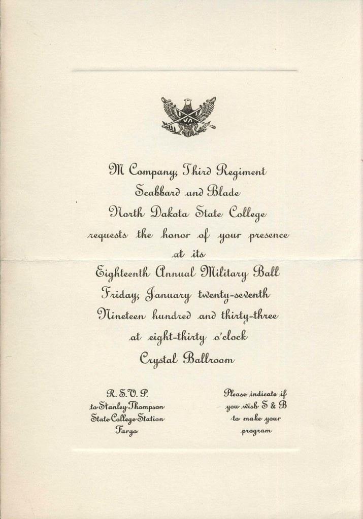 Military Ball Description Invitation To 1933 Military Bal Flickr