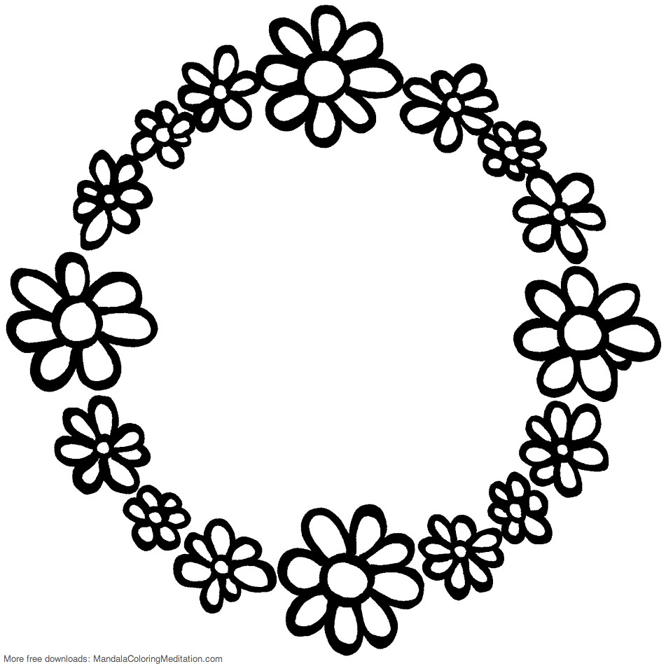 Printable children coloring page: flower circle mandala | Flickr