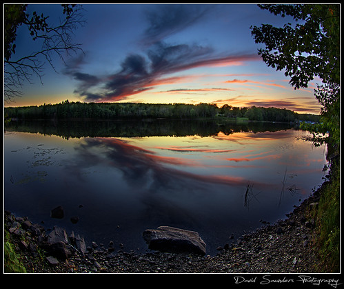 sunset summer cloud lake reflection green water grass canon still novascotia adobe 7d lakeview hdr fallriver cs5 copyrightallrightsreserved davidsaunders vertorama davethehaligonian lakethomassunset img2491hdrb
