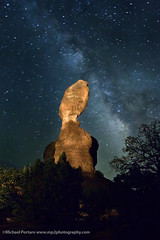 Balanced Rock under Milky Way - IMG_7855