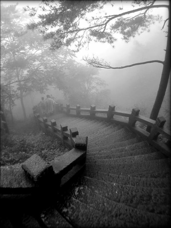 Descending into the fog
