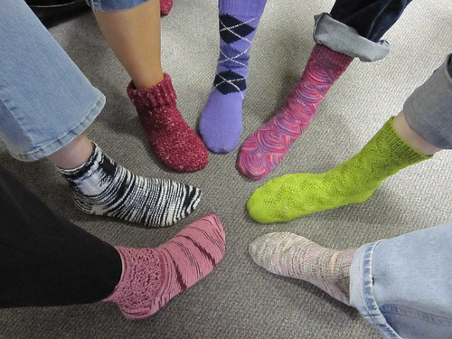 Put your right foot in! Sock Hop 2010   by neighborhood-knits