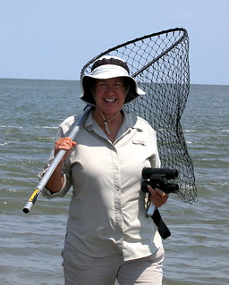 Patti Holland, Lafayette Ecological Services Office searches for oiled birds at Bell Pass, near Port Fourchon, La.