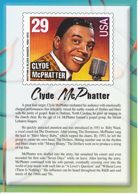 USPS Legends of American Music Clyde McPhatter Postca