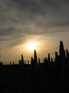 Seathenge in Rome, Italy