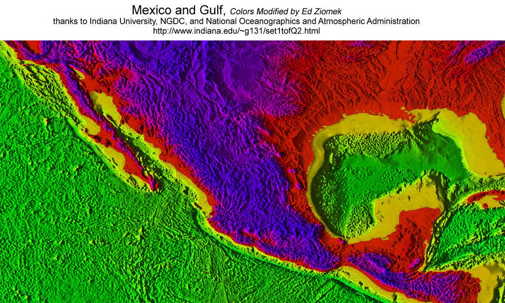 Mexico_colors_Topography