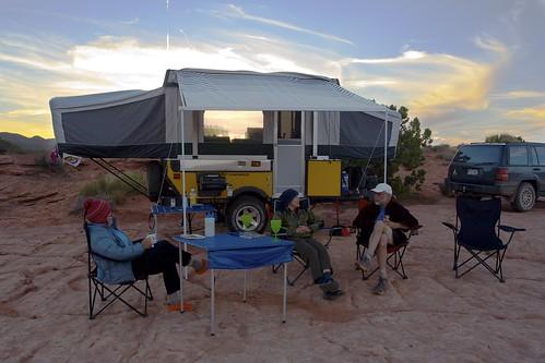 people landscapes desert campsite
