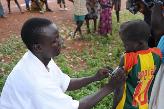 Health worker administers MenAfriVac™ shot in Burkina Faso | by PATH global health