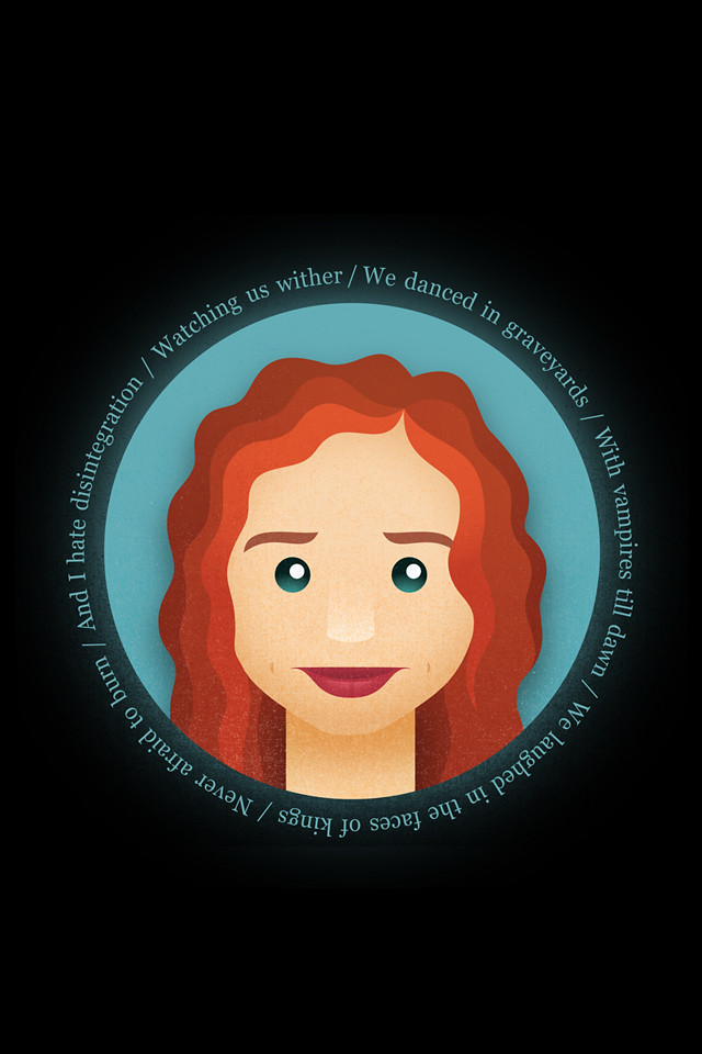 ... Tori Amos > iPhone 4 Retina wallpaper | by Sherbet Lemon