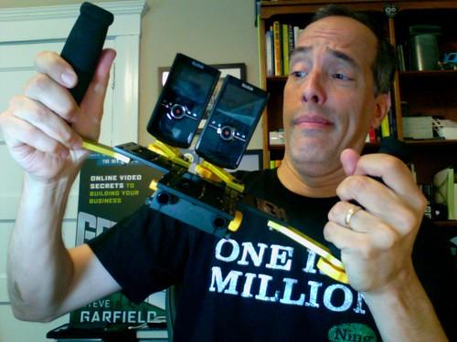(2) Kodak Zi8's and iKan Rig for Shooting 3D Video
