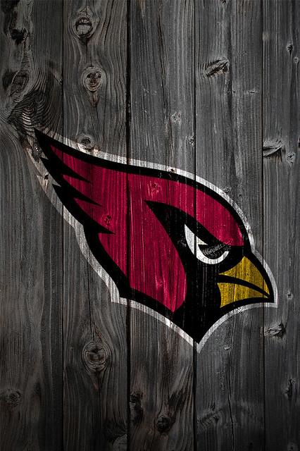 Arizona Cardinals Wood iPhone 4 Background