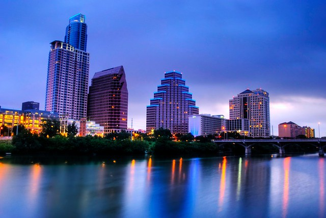 Blue hour in Austin