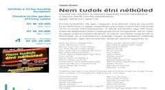 2010. július 16. 19:03 - Színház a Zichy-kastély kertjében