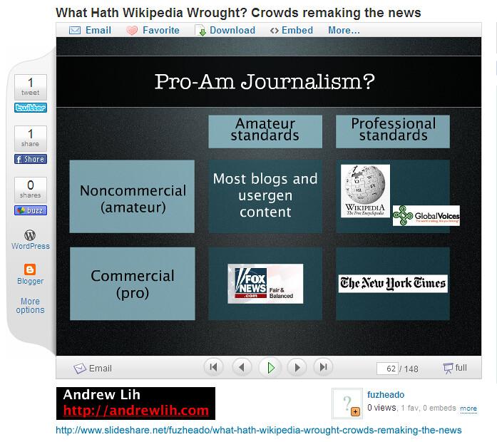 Pro-Am Journalism
