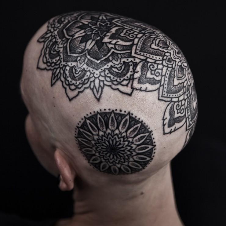 031eaf6d691c8 mandala tattoo by the amazing Thomas Hooper | Mychele & Ben Woolley ...