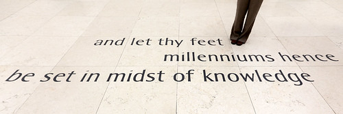 and let thy feet millenniums hence be set in midst of knowledge | by dmmaus