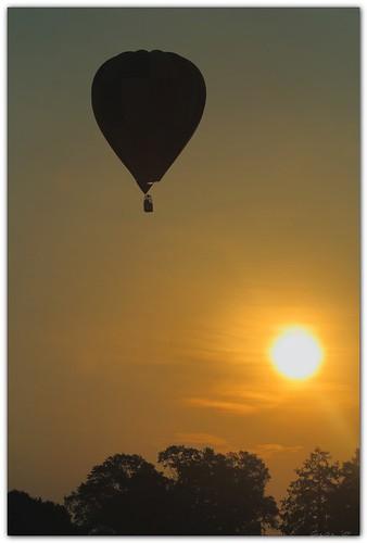 silhouette sunrise louisiana batonrouge hotairballoon 2010 balloonfestival canonef70300mmf4556isusm mrgreenjeans gaylon penningtonballoonfestival artistpicks gaylonkeeling