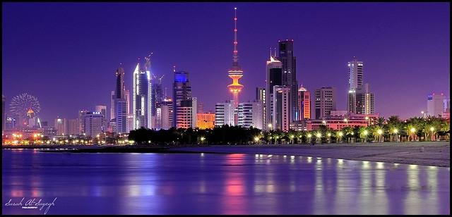 Kuwait City Blue Hour Fire Works