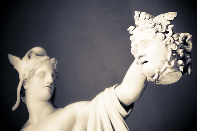 Rome, Vatican Museum. Perseo and Medusa's head, by sculptor Antonio Canova.