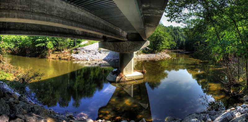 Spring Creek under the Waterloo Rd Bridge, Overton Co, TN