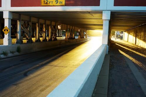 city bridge train sunrise wichitaks minoltaaf35mmf14