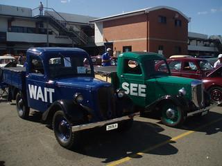 "1949 Bradford trucks - ""Wait"" and ""See"""