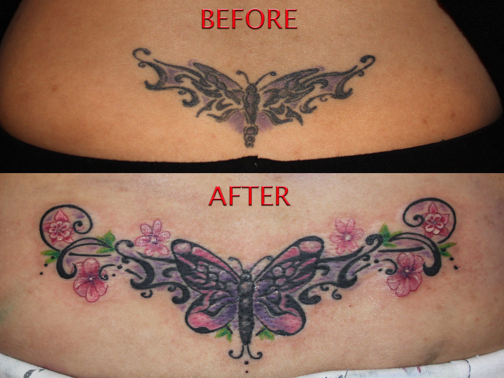 2c962c932c9b2 ... tribal butterfly tattoo cover up by Mirek vel Stotker | by stotker