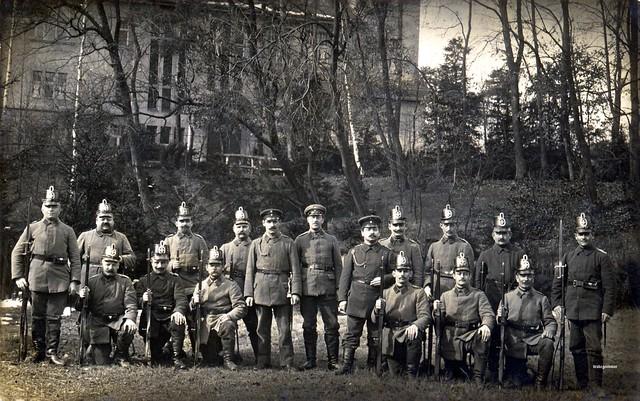 A superb group portrait depicting men from an unidentified Landsturm battalion