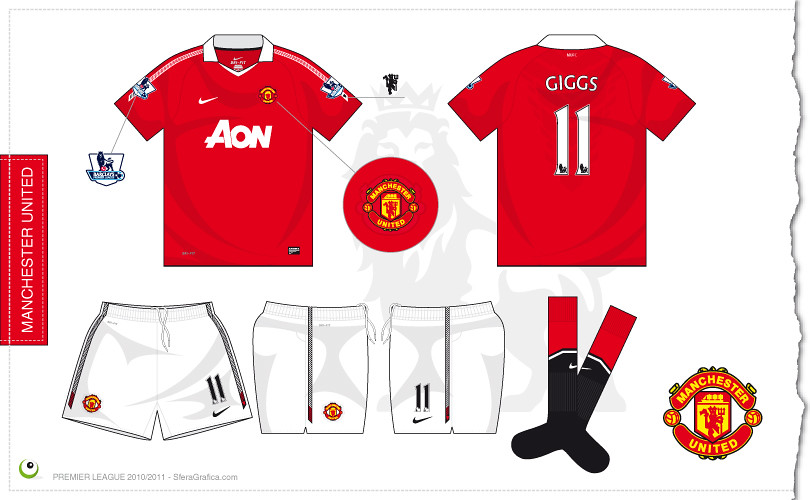 huge selection of 4fa9a e3089 Manchester United home kit 2010/2011 | Sergio Scala | Flickr